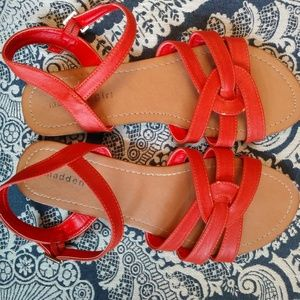 Madden Girl Sandals Coral Size 7.5